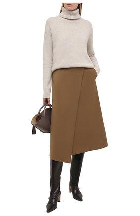Женский кашемировый свитер DEVEAUX NEW YORK бежевого цвета, арт. F203-713-LP1 | Фото 2