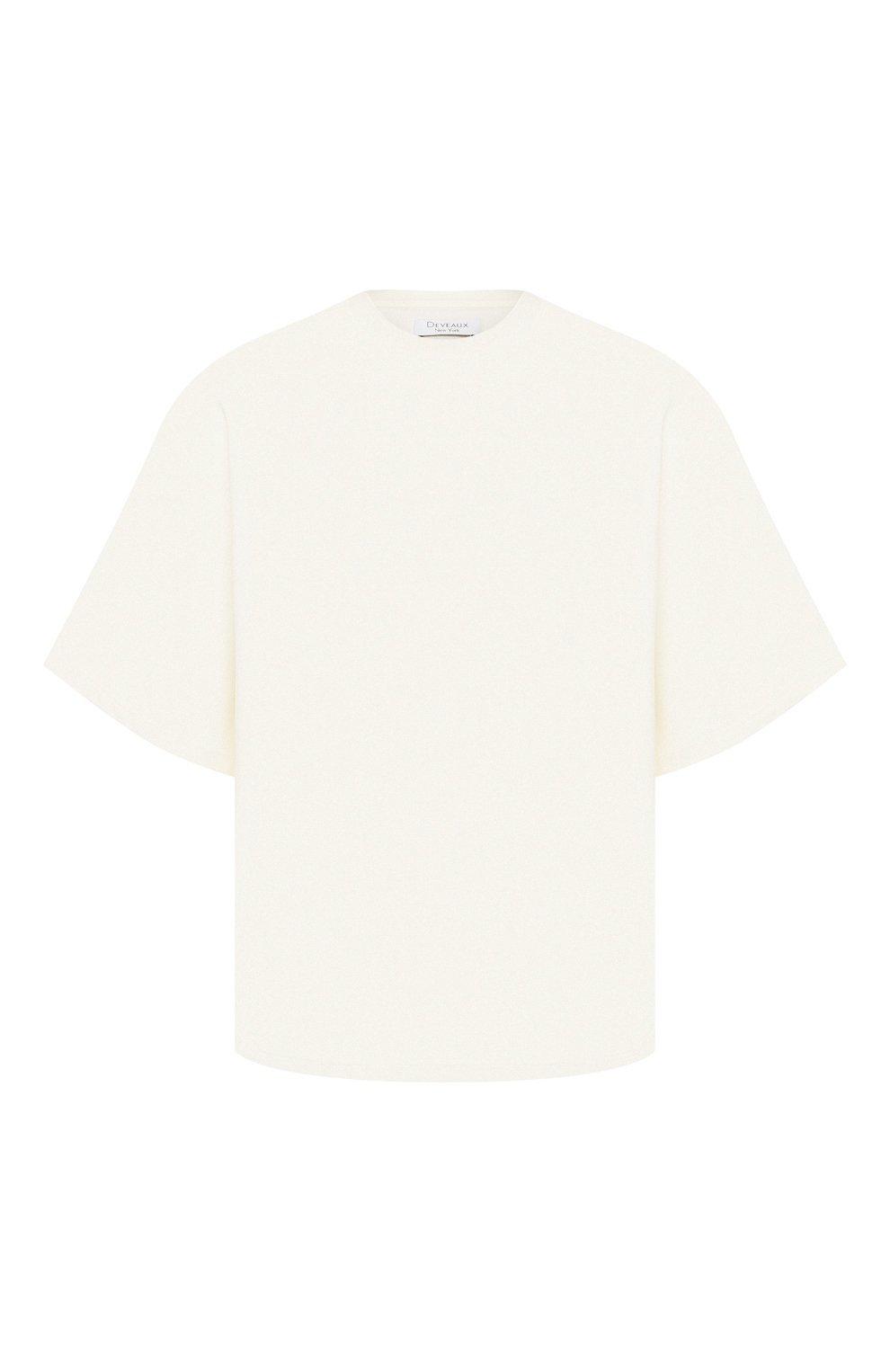 Женская футболка DEVEAUX NEW YORK кремвого цвета, арт. W201-600-AG4   Фото 1