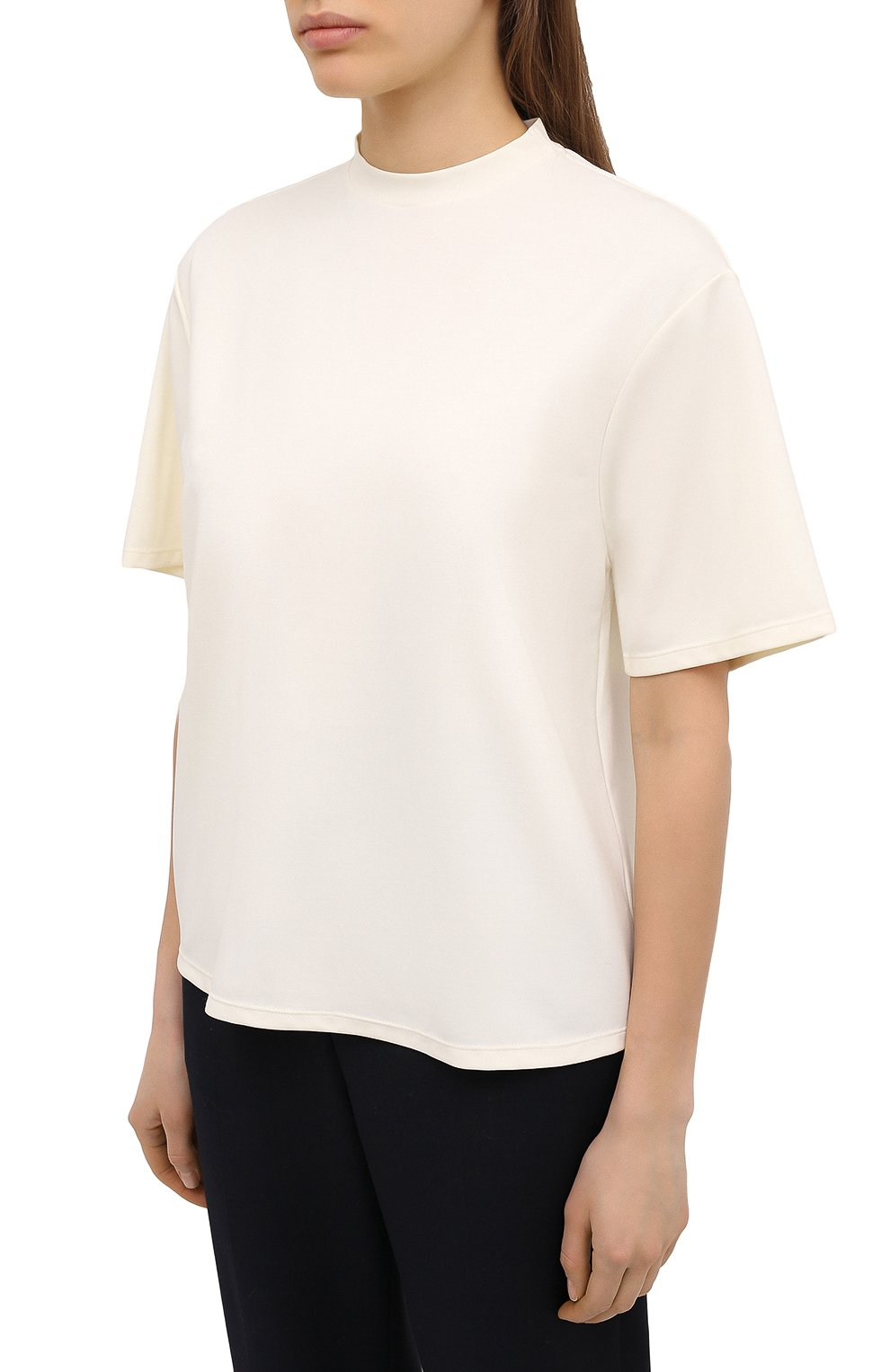 Женская футболка DEVEAUX NEW YORK кремвого цвета, арт. W201-600-AG4   Фото 3
