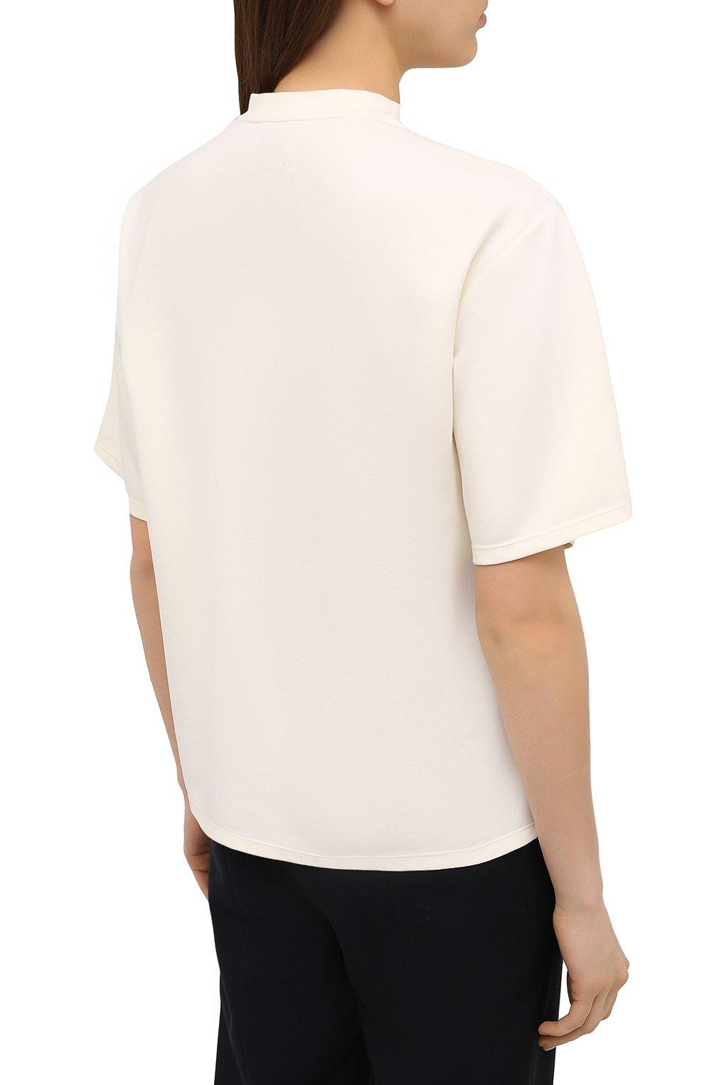 Женская футболка DEVEAUX NEW YORK кремвого цвета, арт. W201-600-AG4   Фото 4