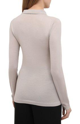 Женское шерстяное поло TOTÊME бежевого цвета, арт. MILLANA 204-550-751   Фото 4