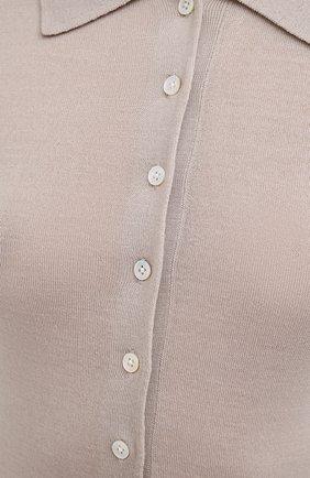 Женское шерстяное поло TOTÊME бежевого цвета, арт. MILLANA 204-550-751   Фото 5