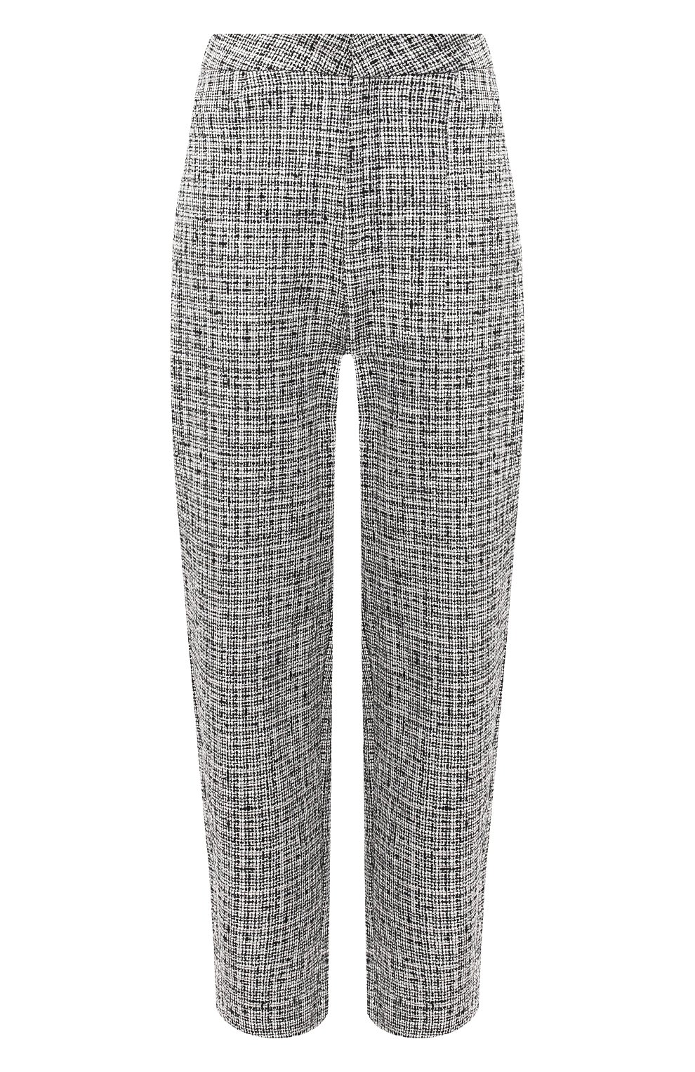 Женские брюки из смеси хлопка и льна TOTÊME черно-белого цвета, арт. N0VARA 201-209-702 | Фото 1