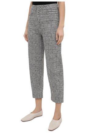 Женские брюки из смеси хлопка и льна TOTÊME черно-белого цвета, арт. N0VARA 201-209-702 | Фото 3