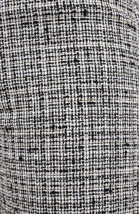Женские брюки из смеси хлопка и льна TOTÊME черно-белого цвета, арт. N0VARA 201-209-702 | Фото 5