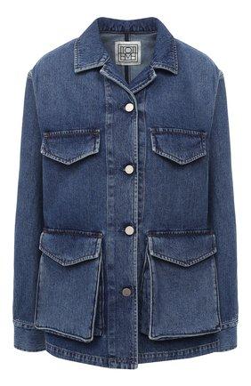 Женская джинсовая куртка TOTÊME синего цвета, арт. 211-190-740 | Фото 1