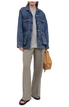Женская джинсовая куртка TOTÊME синего цвета, арт. 211-190-740 | Фото 2