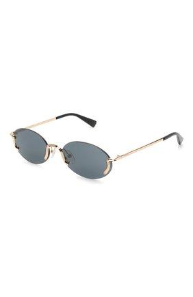 Женские солнцезащитные очки MOSCHINO черного цвета, арт. M0S055 000 | Фото 1