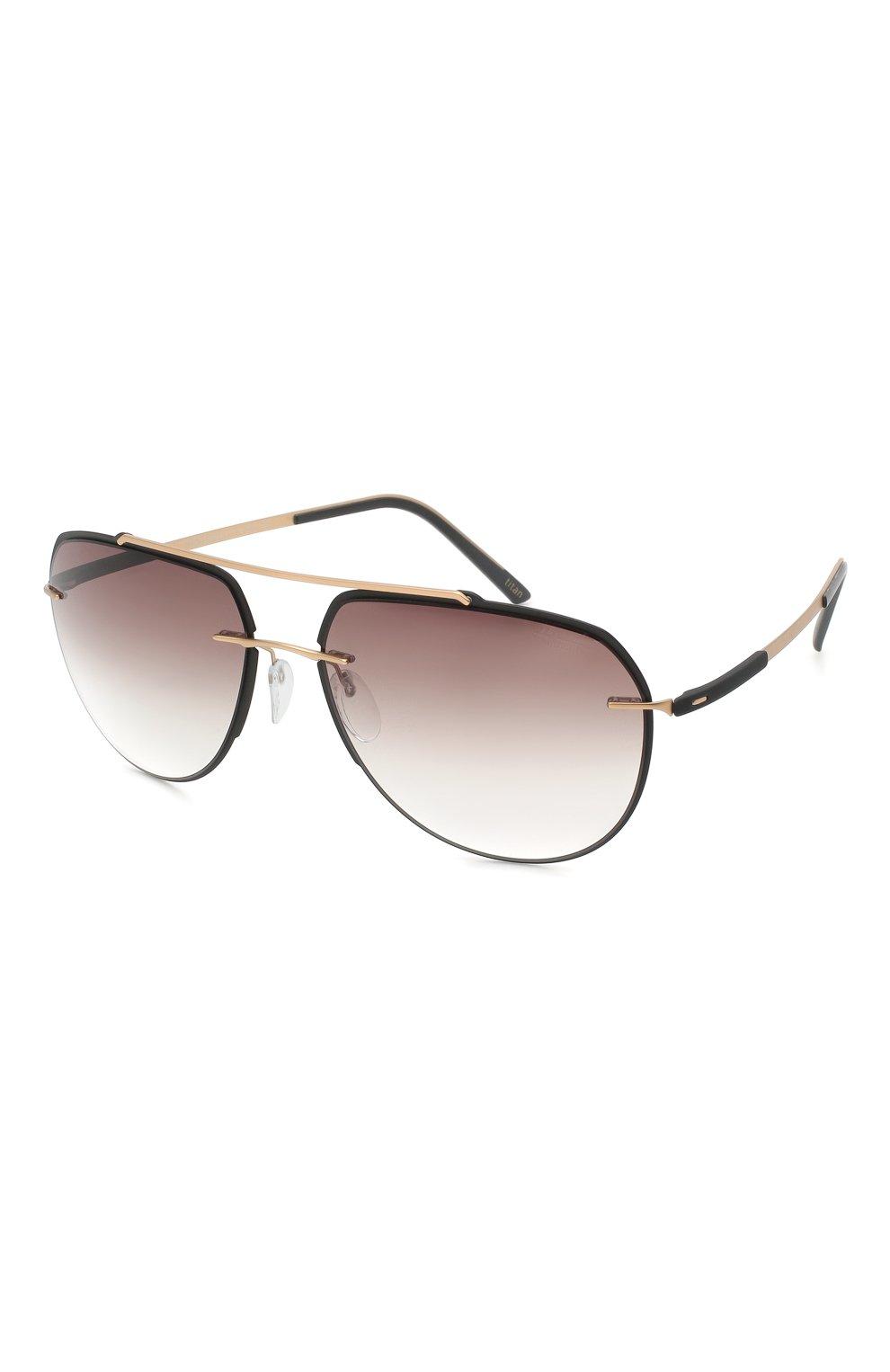 Мужские солнцезащитные очки SILHOUETTE черного цвета, арт. 8719/9030   Фото 1