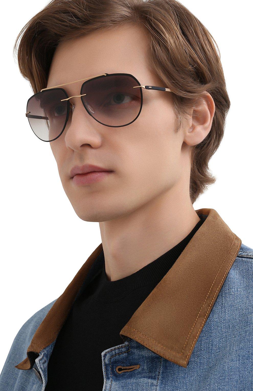 Мужские солнцезащитные очки SILHOUETTE черного цвета, арт. 8719/9030   Фото 2