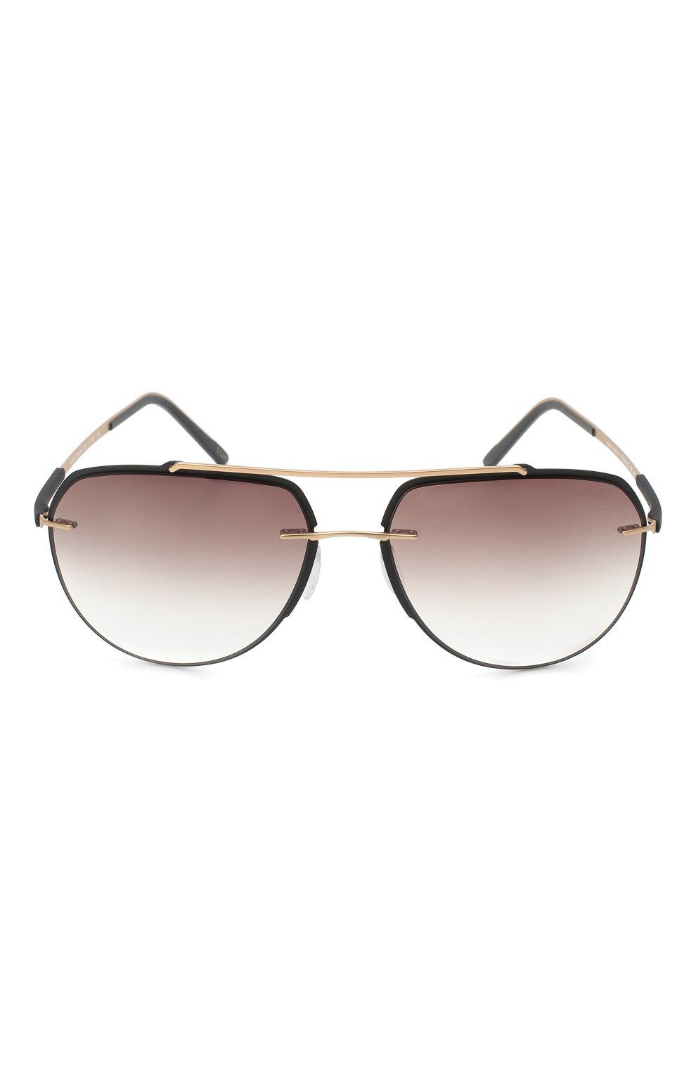 Мужские солнцезащитные очки SILHOUETTE черного цвета, арт. 8719/9030 | Фото 3