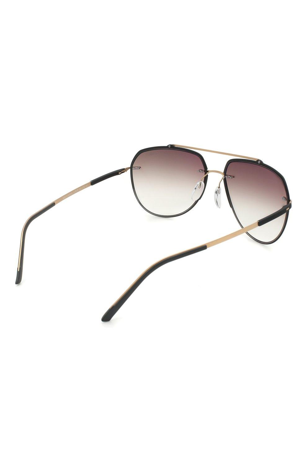 Мужские солнцезащитные очки SILHOUETTE черного цвета, арт. 8719/9030   Фото 4