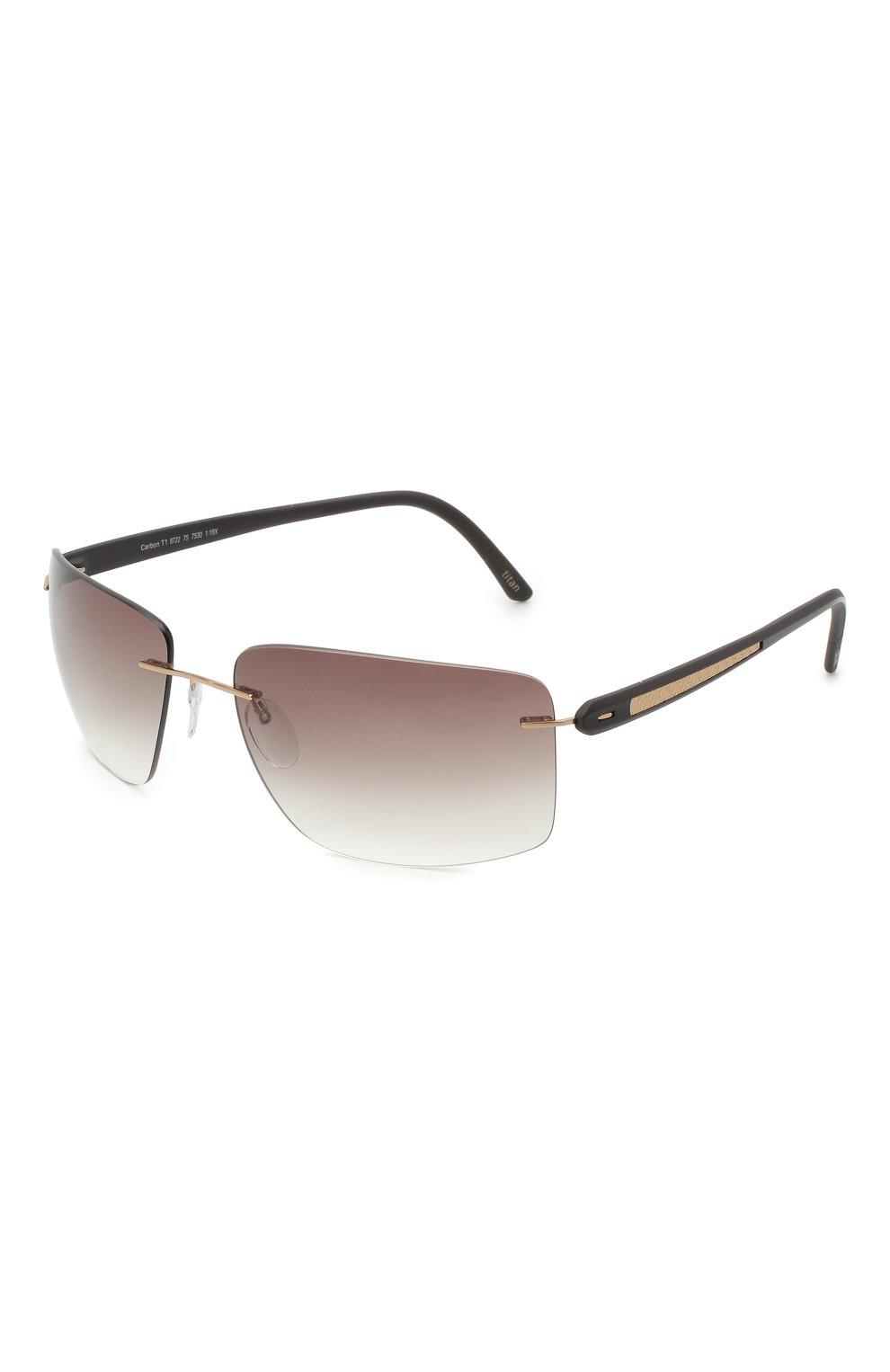 Мужские солнцезащитные очки SILHOUETTE черного цвета, арт. 8722/7530 | Фото 1