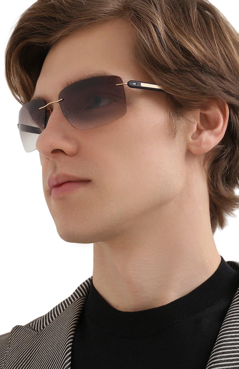 Мужские солнцезащитные очки SILHOUETTE черного цвета, арт. 8722/7530 | Фото 2