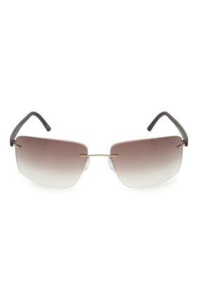 Мужские солнцезащитные очки SILHOUETTE черного цвета, арт. 8722/7530 | Фото 3