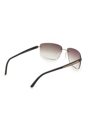 Мужские солнцезащитные очки SILHOUETTE черного цвета, арт. 8722/7530 | Фото 4
