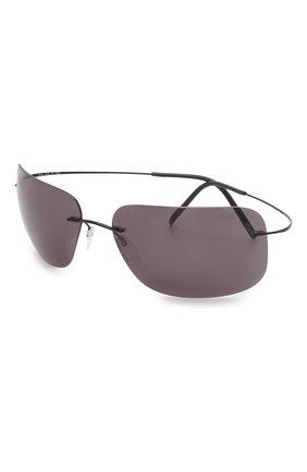 Мужские солнцезащитные очки SILHOUETTE черного цвета, арт. 8723/9140 | Фото 1