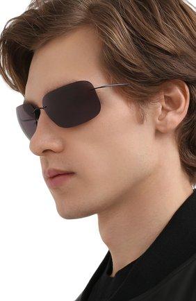 Мужские солнцезащитные очки SILHOUETTE черного цвета, арт. 8723/9140 | Фото 2
