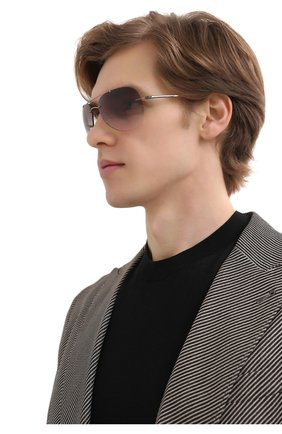 Мужские солнцезащитные очки SILHOUETTE серого цвета, арт. 8721/8540 | Фото 2