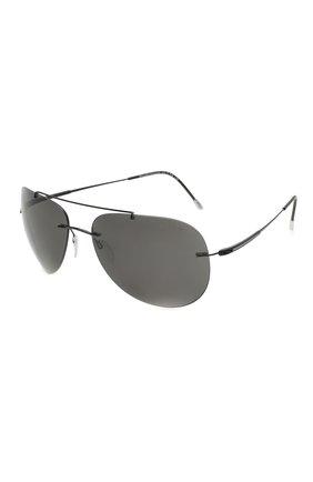 Мужские солнцезащитные очки SILHOUETTE черного цвета, арт. 8721/9140 | Фото 1