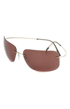 Мужские солнцезащитные очки SILHOUETTE коричневого цвета, арт. 8723/7530 | Фото 1