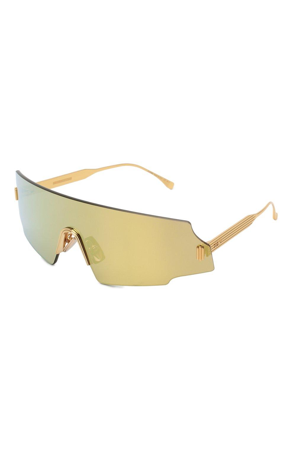 Женские солнцезащитные очки FENDI золотого цвета, арт. 0440 001 | Фото 1