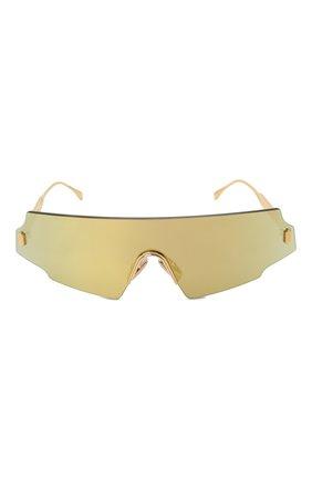 Женские солнцезащитные очки FENDI золотого цвета, арт. 0440 001 | Фото 3