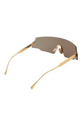 Женские солнцезащитные очки FENDI золотого цвета, арт. 0440 001 | Фото 4