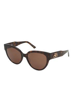 Женские солнцезащитные очки BALENCIAGA коричневого цвета, арт. BB0050S 002 | Фото 1