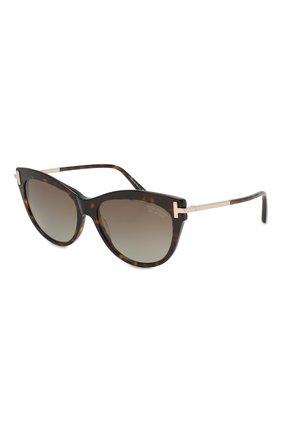 Женские солнцезащитные очки TOM FORD коричневого цвета, арт. TF821 52H   Фото 1
