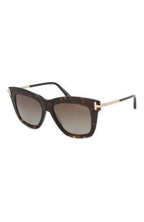 Женские солнцезащитные очки TOM FORD коричневого цвета, арт. TF822 52H   Фото 1