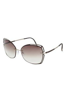 Женские солнцезащитные очки SILHOUETTE коричневого цвета, арт. 8177/6040   Фото 1
