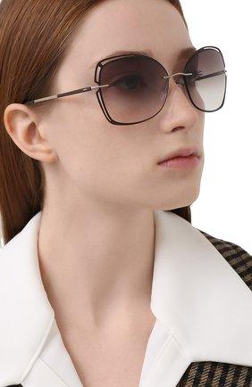 Женские солнцезащитные очки SILHOUETTE коричневого цвета, арт. 8177/6040   Фото 2