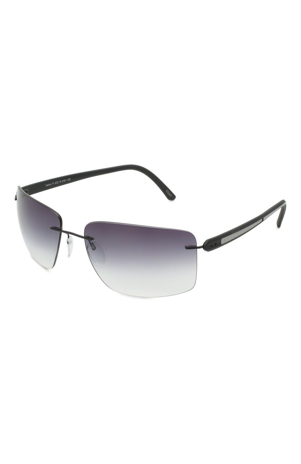 Мужские солнцезащитные очки SILHOUETTE черного цвета, арт. 8722/9140 | Фото 1