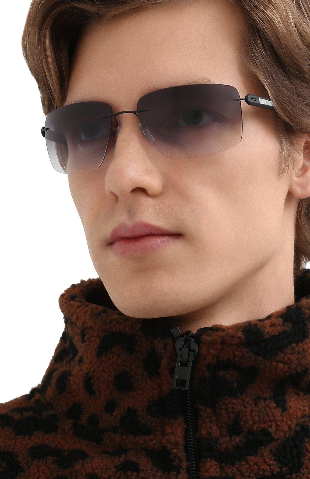 Мужские солнцезащитные очки SILHOUETTE черного цвета, арт. 8722/9140 | Фото 2