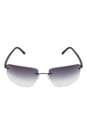Мужские солнцезащитные очки SILHOUETTE черного цвета, арт. 8722/9140 | Фото 3