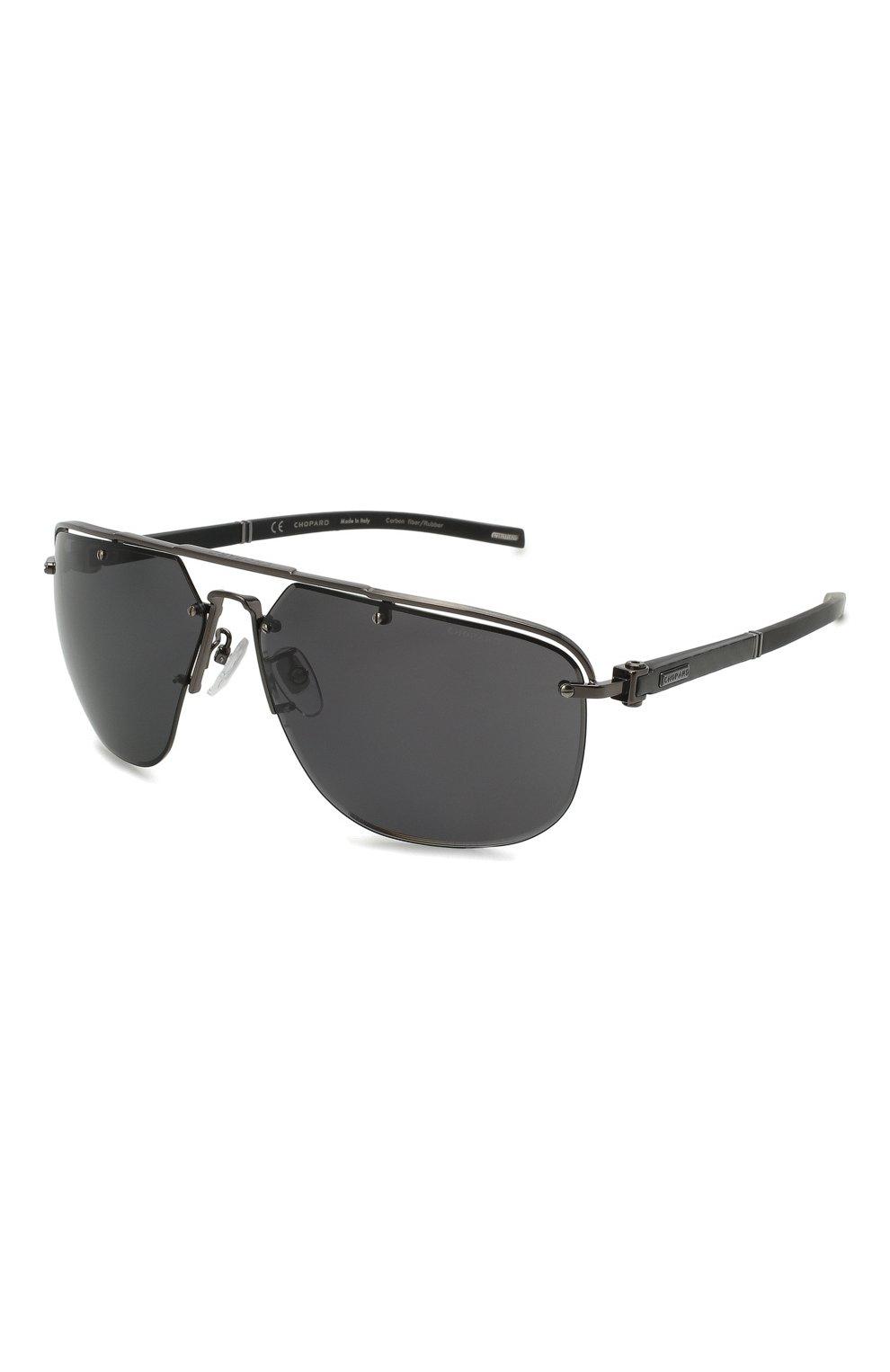 Мужские солнцезащитные очки CHOPARD черного цвета, арт. F23 568P | Фото 1
