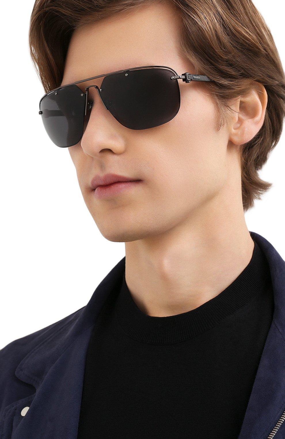 Мужские солнцезащитные очки CHOPARD черного цвета, арт. F23 568P | Фото 2