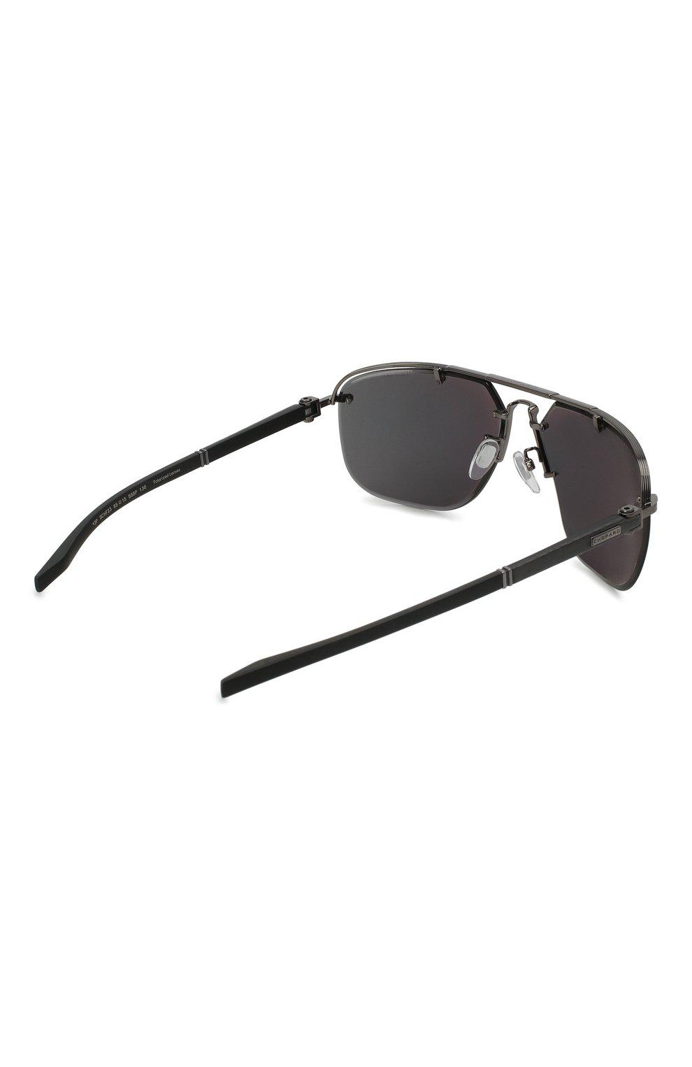 Мужские солнцезащитные очки CHOPARD черного цвета, арт. F23 568P | Фото 4