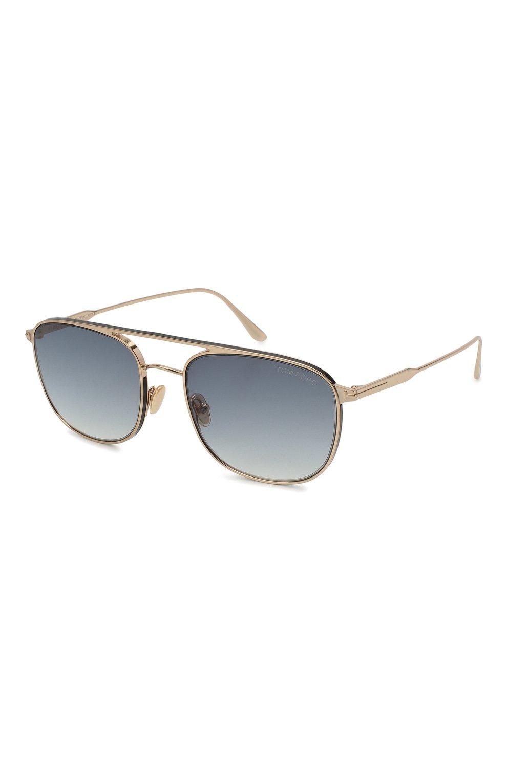 Мужские солнцезащитные очки TOM FORD золотого цвета, арт. TF827 28B | Фото 1
