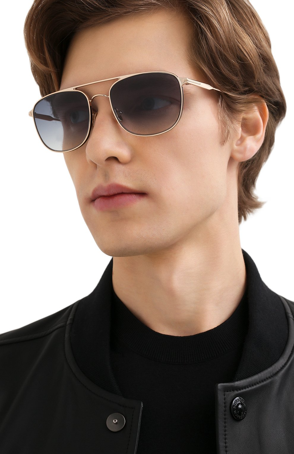Мужские солнцезащитные очки TOM FORD золотого цвета, арт. TF827 28B | Фото 2