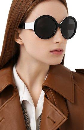 Женские солнцезащитные очки PRADA черного цвета, арт. 22XS-YC45S0   Фото 2