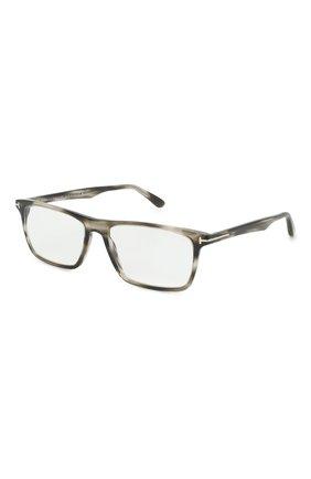 Мужские оправа TOM FORD серого цвета, арт. TF5681-B 056 56 | Фото 1 (Тип очков: Оправа; Оптика Гендер: оптика-мужское; Очки форма: Прямоугольные)