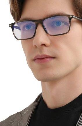 Мужские оправа TOM FORD серого цвета, арт. TF5681-B 056 56 | Фото 2 (Тип очков: Оправа; Оптика Гендер: оптика-мужское; Очки форма: Прямоугольные)