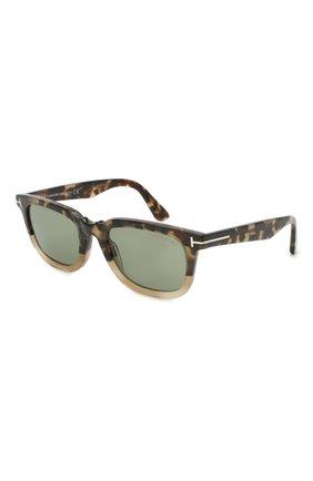Мужские солнцезащитные очки TOM FORD коричневого цвета, арт. TF817 56N 53 | Фото 1