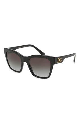 Женские солнцезащитные очки DOLCE & GABBANA черного цвета, арт. 4384-501/8G | Фото 1 (Тип очков: С/з; Оптика Гендер: оптика-женское; Очки форма: Квадратные)