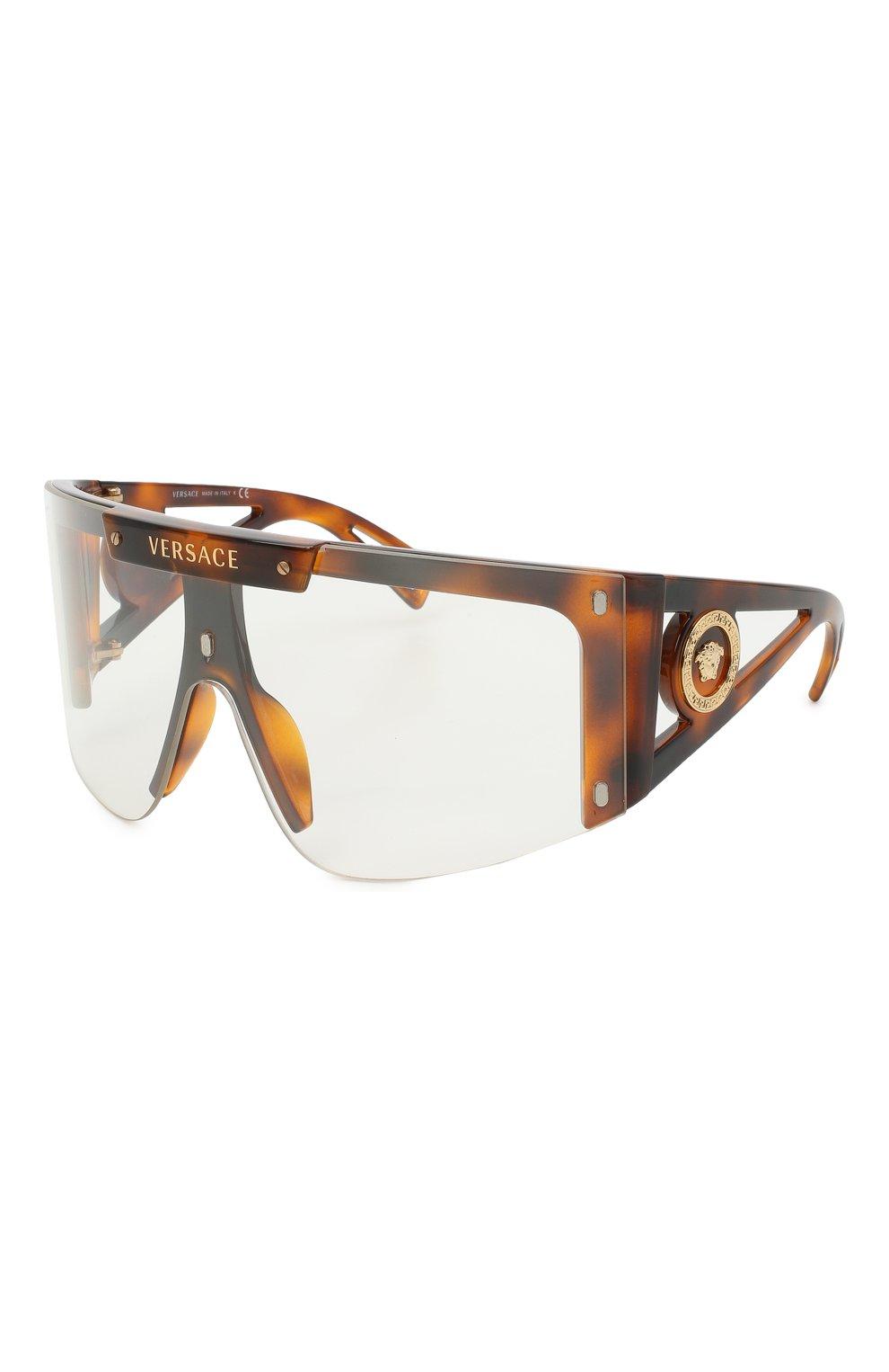Женские солнцезащитные очки VERSACE коричневого цвета, арт. 4393-52171W | Фото 1