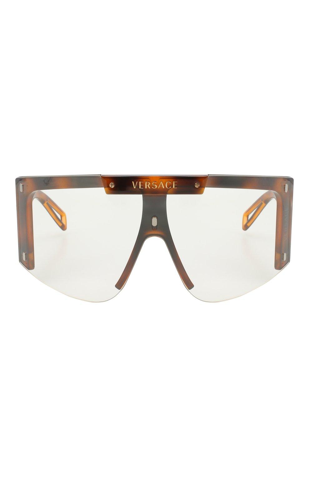 Женские солнцезащитные очки VERSACE коричневого цвета, арт. 4393-52171W | Фото 3