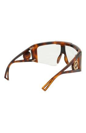 Женские солнцезащитные очки VERSACE коричневого цвета, арт. 4393-52171W | Фото 4
