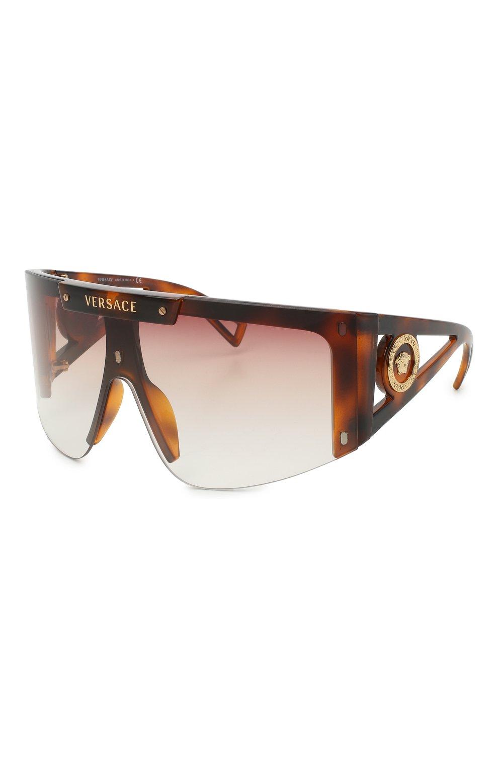 Женские солнцезащитные очки VERSACE коричневого цвета, арт. 4393-52171W | Фото 7